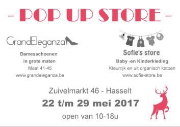 POP-UP Hasselt 22/05 tot 29/05